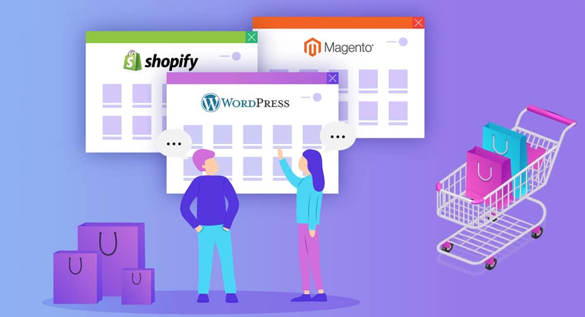 shopify,magento,wordpress